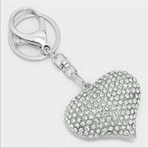Heart Crystal Keychain
